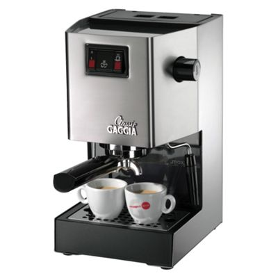 Gaggia RI8161/40 2.1 Classic Coffee Machine -Brushed Stainless Steel