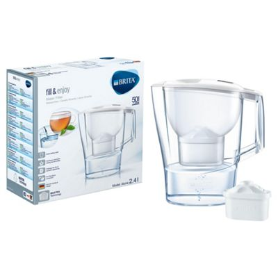 BRITA Aluna 2.4 Litre Water Filter Jug, White