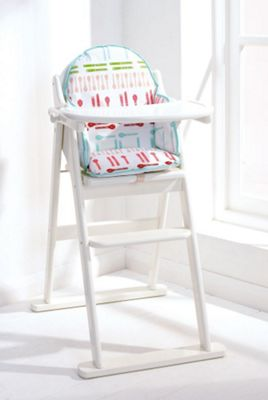 East Coast Folding Highchair, White