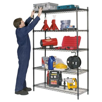 Clarke CS5000B 5 Shelf Boltless Wire Shelving