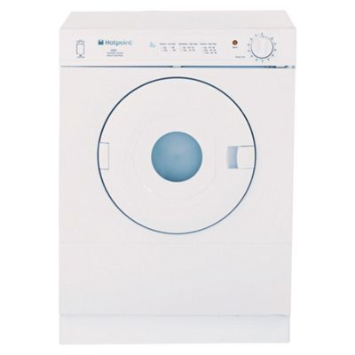 Hotpoint V3D01P Vented Tumble Dryer, 3kg Load, D Energy Rating White