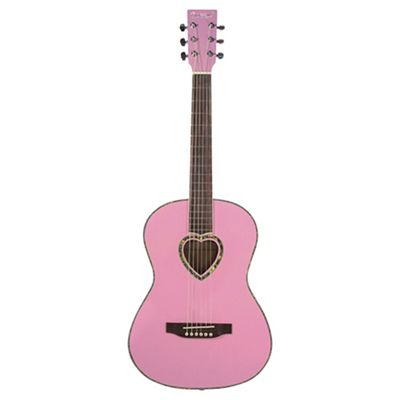 Candy Rox Heart Shaped 3/4 Size Acoustic Guitar - Pink