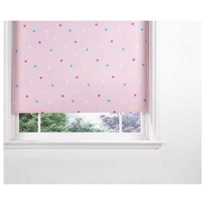 Kids Polka Dot Blind 90Cm, Pink