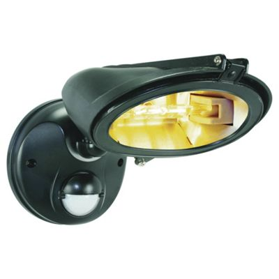 Byron 120W Sky Savior Halogen Anti-light Pollution Security Light ES128, Black