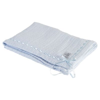 Clair de lune Ribbon Blanket, Blue