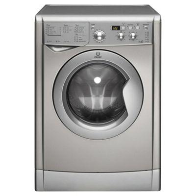 Indesit Ecotime Washer Dryer, IWDD7123S, 7KG Load, Silver