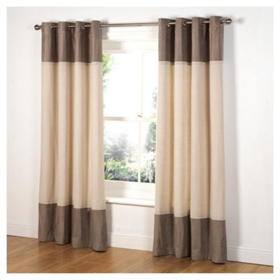 Tesco Linen & Faux Suede Lined Eyelet Curtains W168xL229cm (66x90