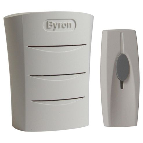 Byron BY101 Portable Wireless Doorbell Kit  White