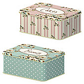 Creative Tops Floral Cake and Biscuit Tins, Set of 2