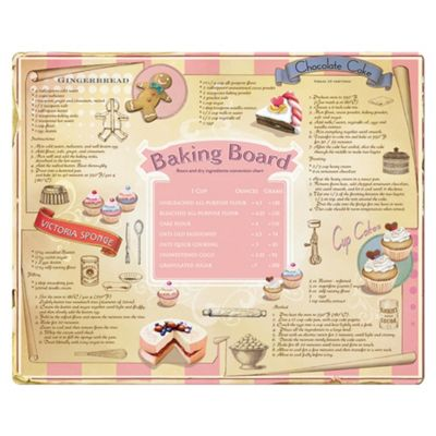 Creative Tops Large Glass Work Surface Protector Baking Board