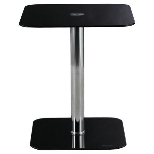 Atom Pedestal Side Table, Black