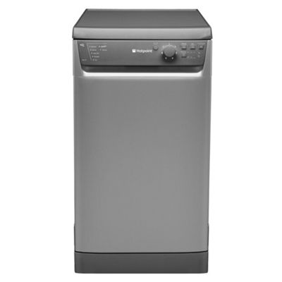 Hotpoint SDL510G Slimline Dishwasher, A Energy Rating, Graphite