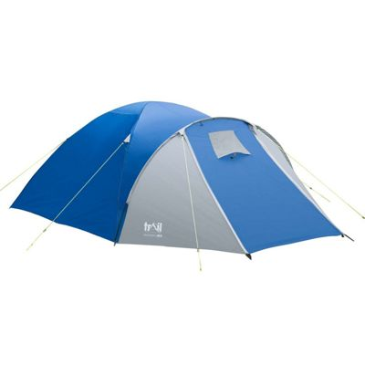 Trail Bracken 4-Man Dome Tent with Porch - Blue & Tents | Camping u0026 Hiking - Tesco