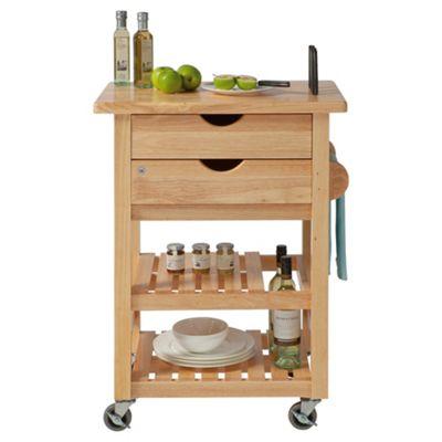 T&G Woodware Ltd Ashton Trolley in Natural Hevea