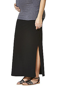 Mamalicious Split Sides Maternity Maxi Skirt - Black