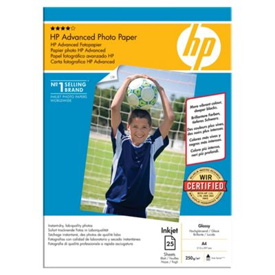 HP Advanced Glossy Photo Paper 25 A4