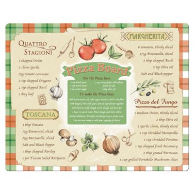 Creative Tops Large Glass Work Surface Protector Pizza Board