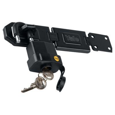 Yale 50mm weatherproof padlock & hasp