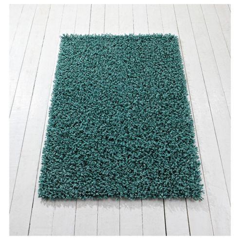 Tesco Rugs orbit shaggy rug teal 150x240cm