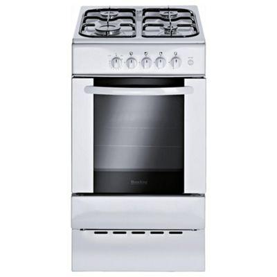 Homeking HCG500W 50cm White Single Cavity Slot In Gas Cooker