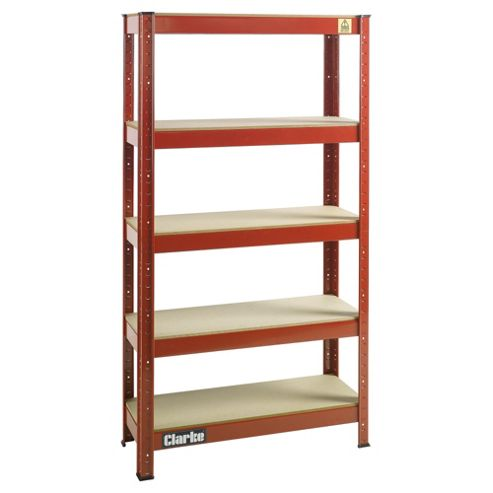 Clarke CSR5150RP Boltless Shelving Unit 150Kg, Red