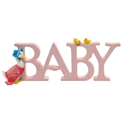 Jemima Puddle-duck Baby Letters