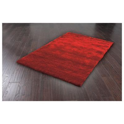 Tesco Rugs Luxurious Shaggy 70X140Cm Red