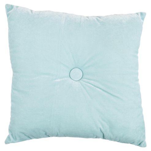 Tesco Velvet Cushion-Aqua