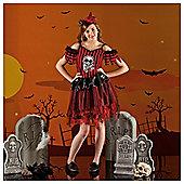 Girls Pirate Stripe Witch Costume