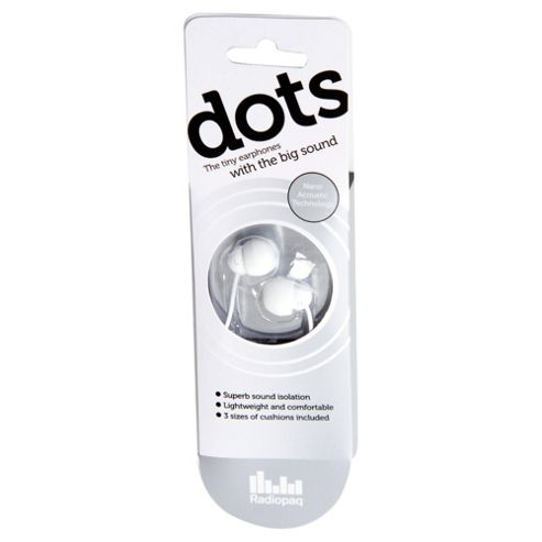 Radiopaq Dots In-ear headphones - White