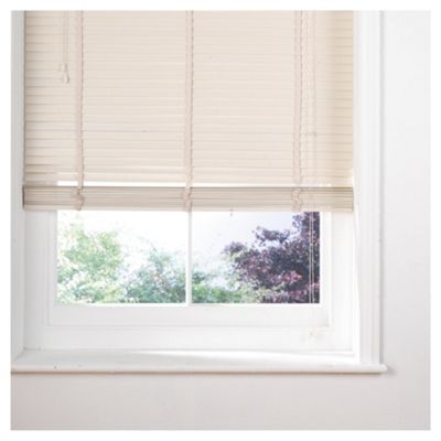Sunflex Wood Venetian Blind W105 x Drop 160cm, 35mm Slats, Cream