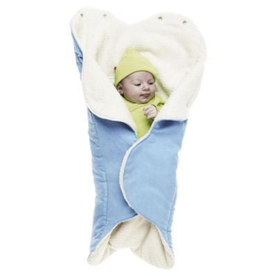 Wallaboo Fleece Wrapper, Soft Blue