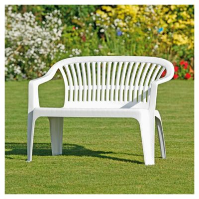 Buy Plastic Garden Bench White From Our Garden Bench