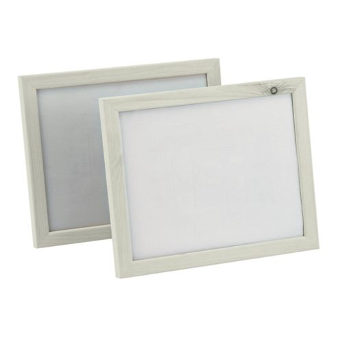 Large Frame Cream 20x25cm Twin Pack
