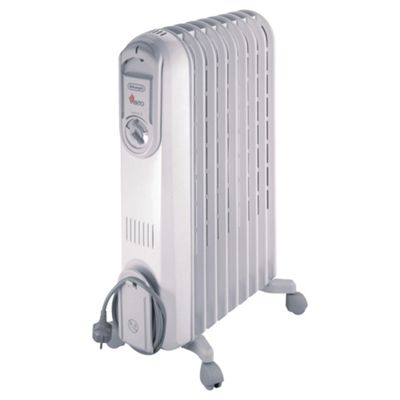 De'Longhi VV550920 Oil Filled Heater, 2000W - Grey