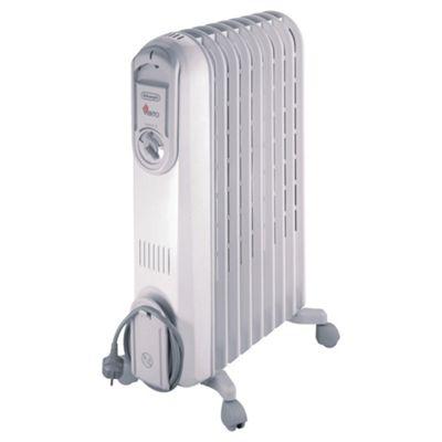 De'Longhi VV550920 Oil Filled Heater, 2000W - Grey