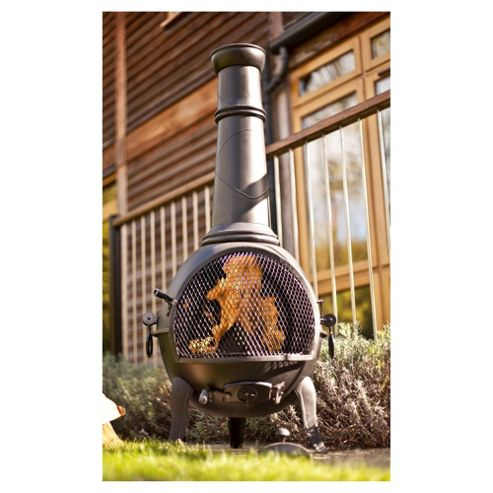 La Hacienda Steel/Cast Iron Chimenea Black - Large