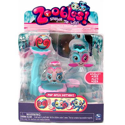 Zoobles! Chillville Collection - Wesley and Alva Figures