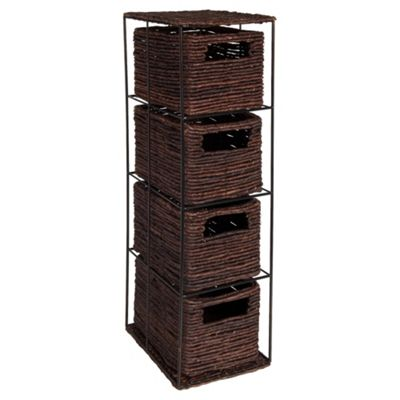 Dyed Banana Leaf 4 Drawer Tower