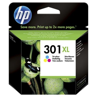 HP 301XL High Yield Tri-color Original Printer Ink Cartridge