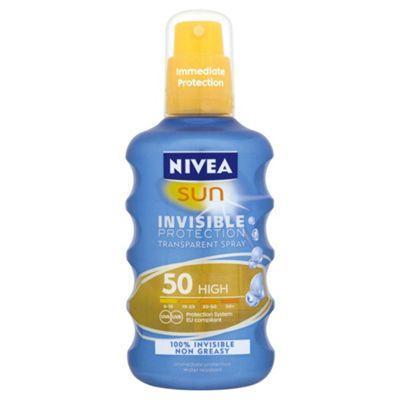 Nivea Sun Invisispray 200Ml Spf50
