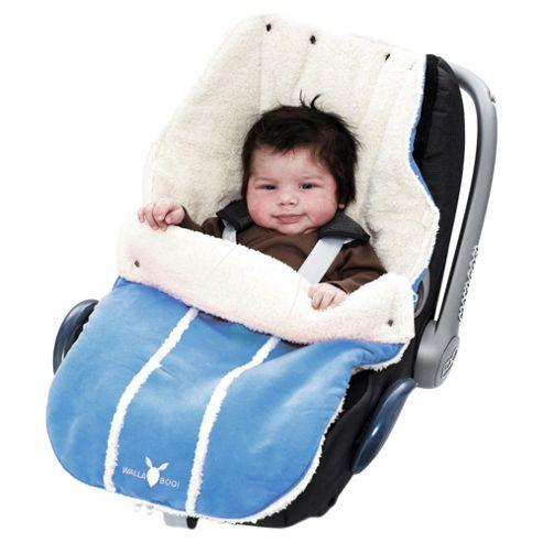 Wallaboo Newborn Footmuff, Soft Blue