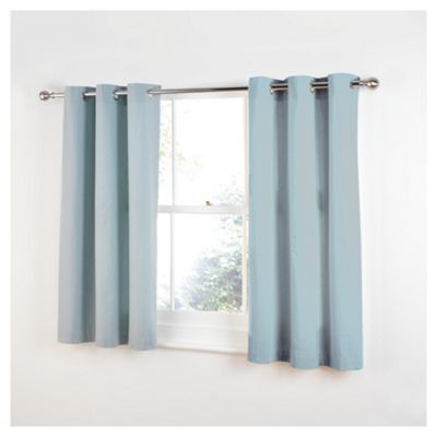 Tesco Plain Canvas Unlined Eyelet Curtains W117xL183cm (46x72