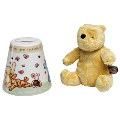 Enesco Classic Pooh Winnie the Pooh Money Bank and Soft Toy Set