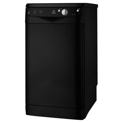 Indesit IDS105K Slimline Dishwasher, A Energy Rating, Black
