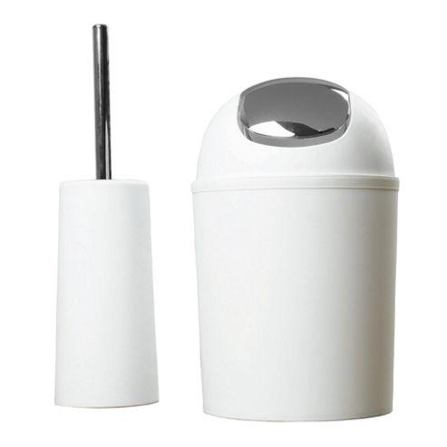 Tesco White Toilet Brush And Bin - Pre Bundle