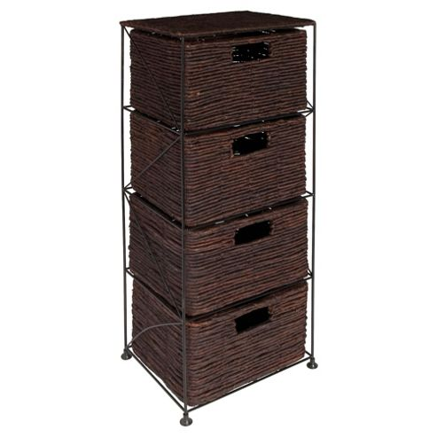 Dyed Banana Leaf Large 4 Drawer Tower