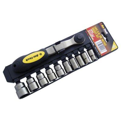 Am-Tech 3/8-inch Blacknickel Socket Set (11 Pieces)