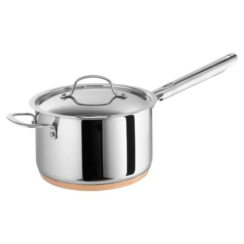 Professional Go Cook 20cm Copper Base Saucepan with Lid