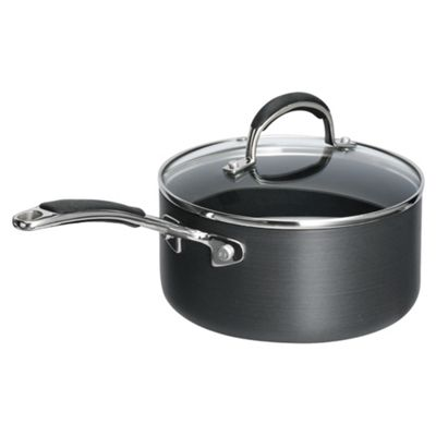 Go Cook 16cm Hard Anodised Saucepan with Lid